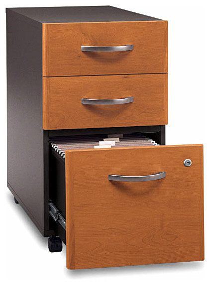 Assembled Three Drawer Rolling File - Series C - Contemporary - Filing Cabinets - by ShopLadder