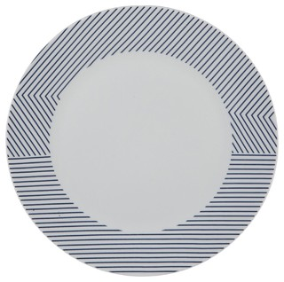 Marina assiette plate en porcelaine blanche et bleue for Table marina alinea