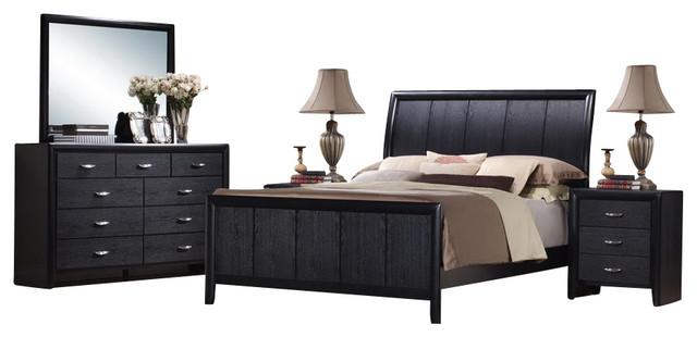 black queen 5 piece wooden modern bedroom set contemporary bedroom
