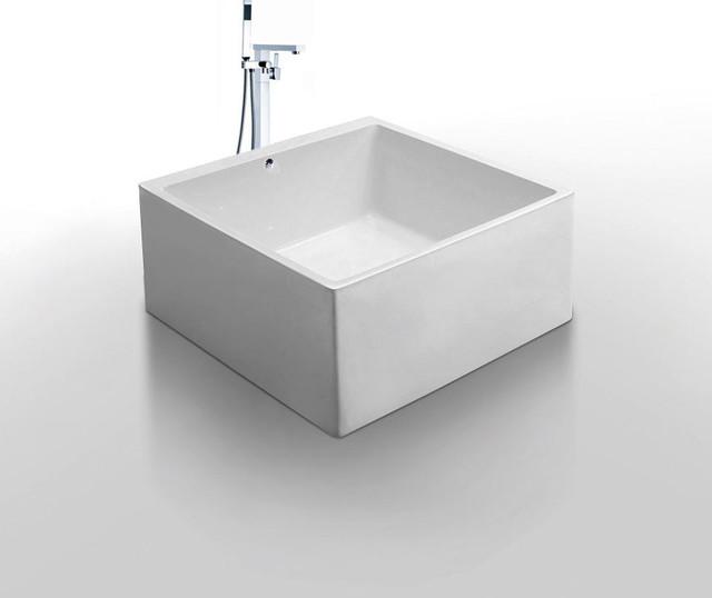Diamante Acrylic Modern Bathtub 55 Modern Bathtubs
