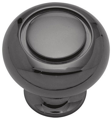 """Belwith Keeler Power & Beauty Collection Knob, 1-1/4"""" Dia - Black Nickel - Transitional ..."""