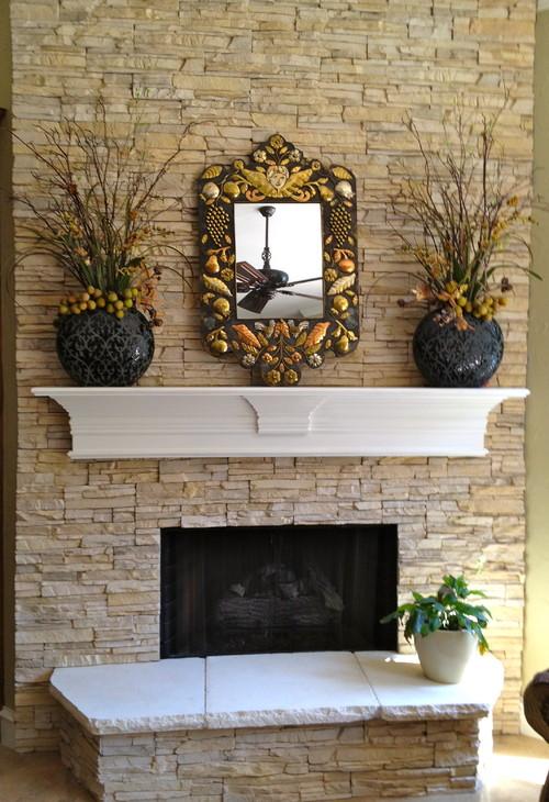 Faux stone fireplace eldorado stone stacked stone for Eldorado stone outdoor kitchen cabinet