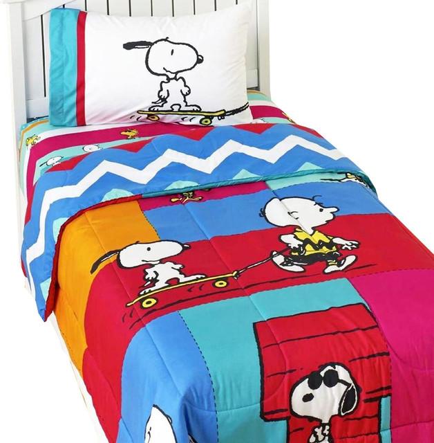 Charlie Brown Peanuts Bed Sheet Set Snoopy Be Cool