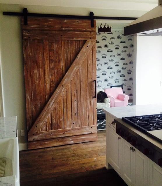 Custom made handcrafted Barn Door and hand forged iron Hardware - Farmhouse - Barn Door Hardware ...