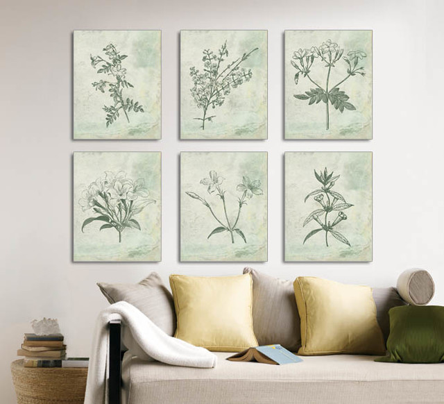 Botanical prints floral vintage botanical illustrations for Dining room vintage wall art