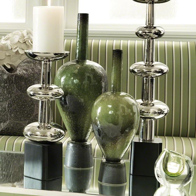Global Views Vase: Global Views On Point Vase Olive Green Large