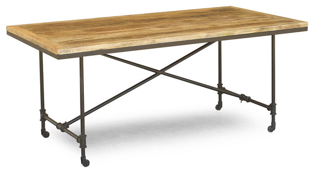 RECLAIMED WOOD DINING TABLE WITH WHEELS - Eclectic - Dining Tables ...