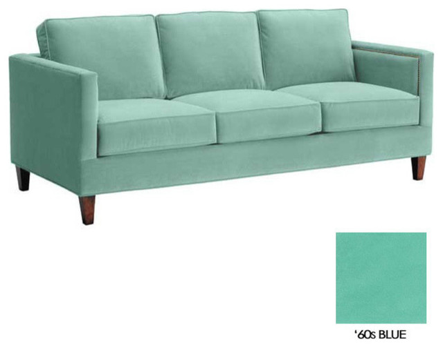 Anderson Sofa 60s Blue Transitional Sofas