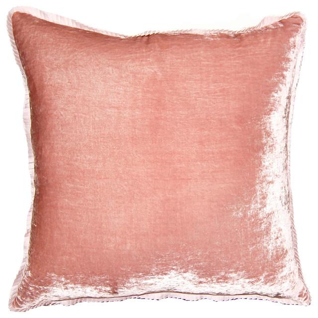 Blush Rose Throw Pillows : Blush Rose Velvet Throw Pillow - Modern - Decorative Pillows - by Layla Grayce