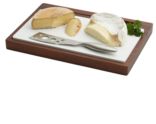 Cheese Board With Ceramic And Knife Modern Cutting