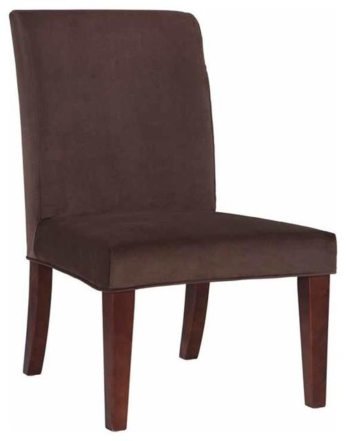 slip over slipcover for dining chair mink brown velvet