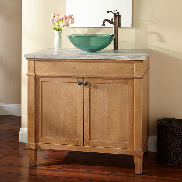 36 Marilla Vessel Sink Vanity Rustic Bathroom Vanities And Sink Consoles By Signature