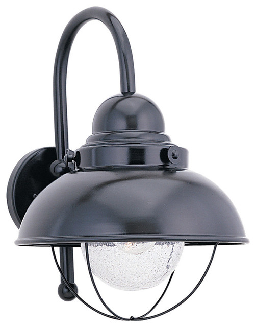 Sea Gull Lighting 8870-12 Sebring 1 Light Outdoor Wall Lights in Black - Coastal - Outdoor Wall ...