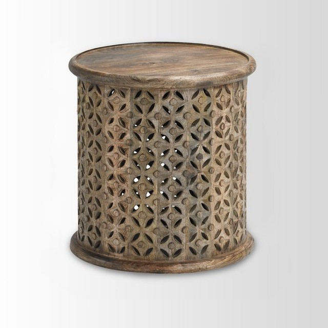 Carved Wood Side Table Contemporary Tables amp End