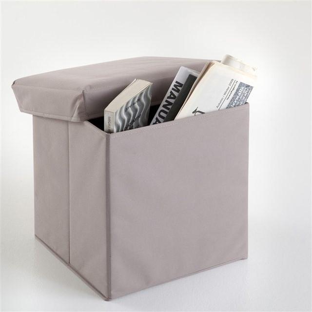 Pouf de rangement pliable meeting contemporain repose for Pouf contemporain