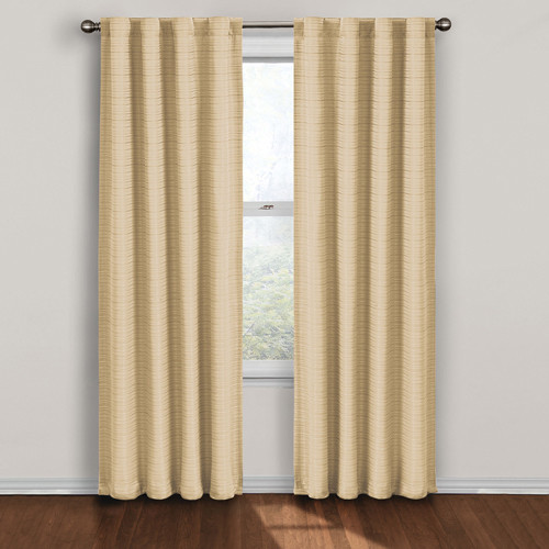 twist ivory 63 inch thermalayer blackout window curtain