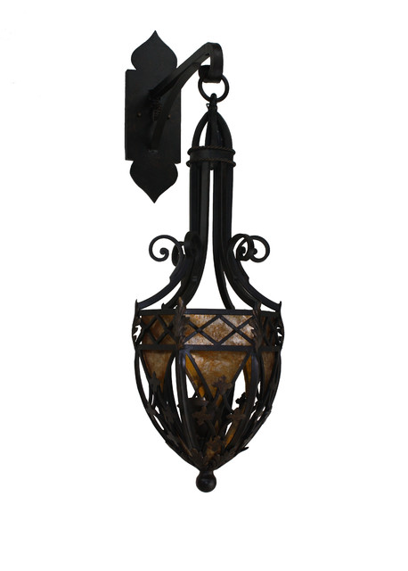 Custom Metal Wall Sconces : Custom Hand Made Iron Sconces - Mediterranean - Wall Sconces - san diego - by Hacienda Lights ...