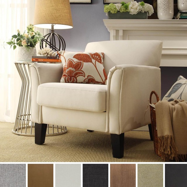 TRIBECCA HOME Uptown Modern Accent Chair Contemporary Armchairs Acc