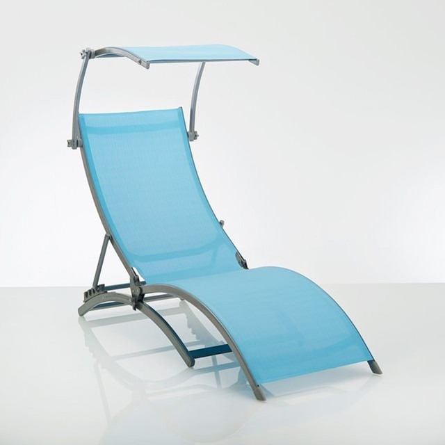 Chaise longue bain de soleil contemporain transat et for Chaise soleil et transat