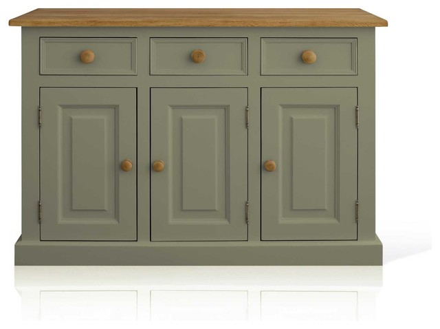 Soho Painted Argyll 4ft Sideboard In Sage Green