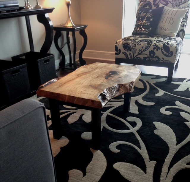 Eclectic Coffee Tables: Maple Live Edge Coffee Table