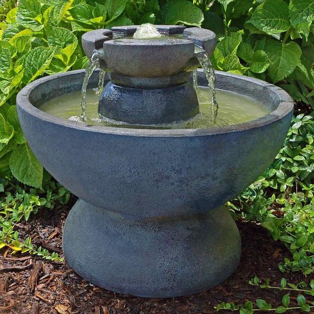 Contemporary Backyard Fountains :  Outdoor Floor Fountain  4359F2RE contemporaryoutdoorfountainsand