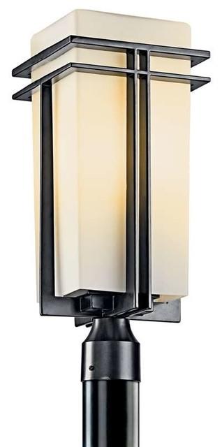 Kichler lighting 49207bkfl tremillo contemporary outdoor for Contemporary outdoor post light fixtures