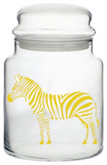 Metallic gold zebra jar contempor neo botes y frascos - Botes almacenaje cocina ...