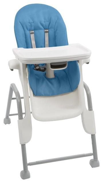 Oxo Tot Seedling High Chair Blue Modern High Chairs