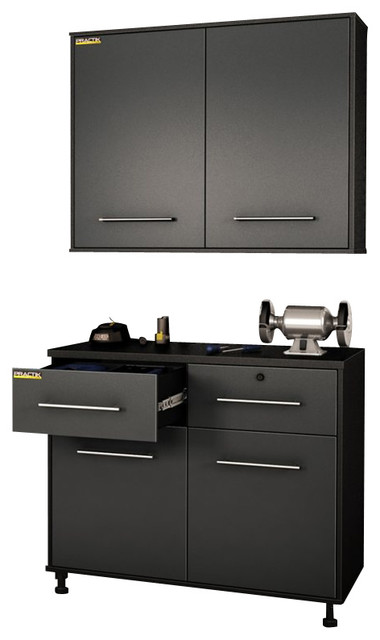 South Shore Karbon Base and Wall Storage Cabinets in Pure ...