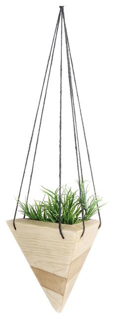 Geometric Hanging Planter Maple Contemporary Indoor