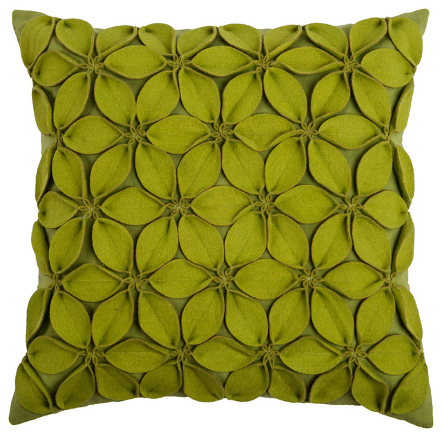 Rizzy Home Decorative Pillow, Lime Green - Contemporary - Decorative Pillows - by Rizzy Home