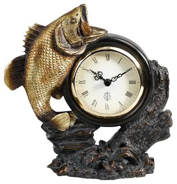 Rustic Table Clock: Cal Lighting TA-605Clk Bass Clock