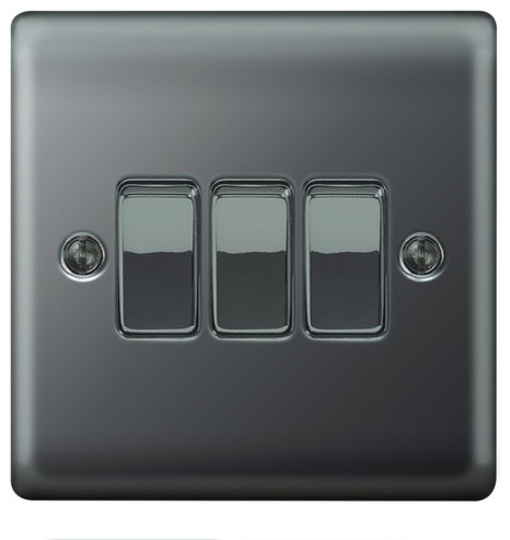 10ax switch 3g 2w modern light switches plug sockets by wickes - Modern switches and sockets ...