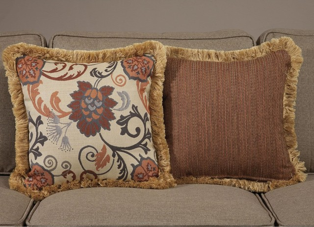 Traditional Pillow Easy Clean Medium : South Sea Rattan Pillow Talk Medium Dimone Pillow - Traditional - Garden Cushions