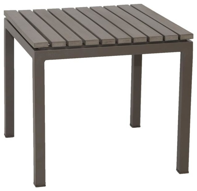 gray riviera end table contemporary outdoor side