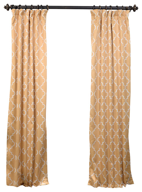 """... Yellow Blackout Curtain, Yellow, 50"""" W x 96"""" L transitional-curtains"""