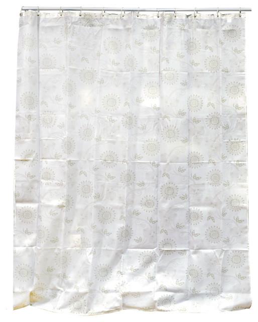 Rideau de douche textile 180 x 200 cm d cor rosace beige for Rideau de douche moderne