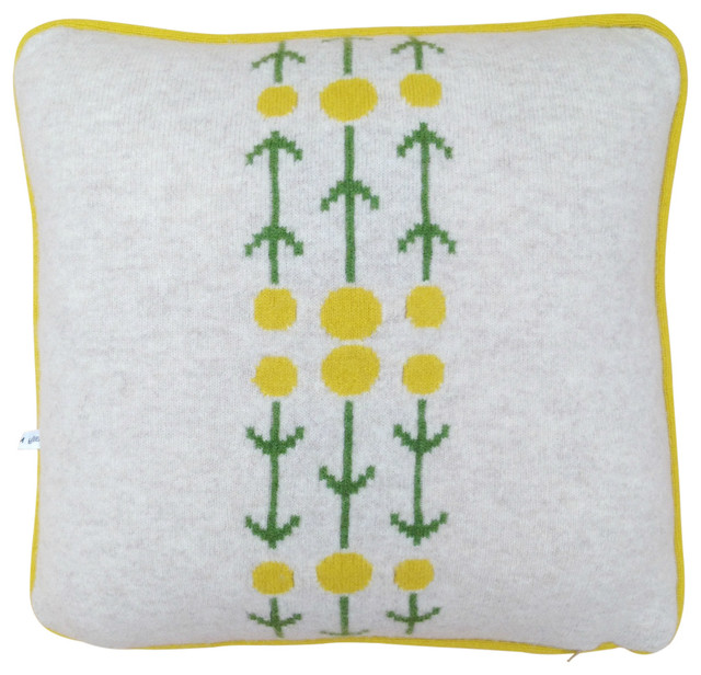 Modern Cross Stitch Pillows : Cross Stitch Flowers Cushion - Modern - Decorative Pillows - other metro - by Yellow Front Door