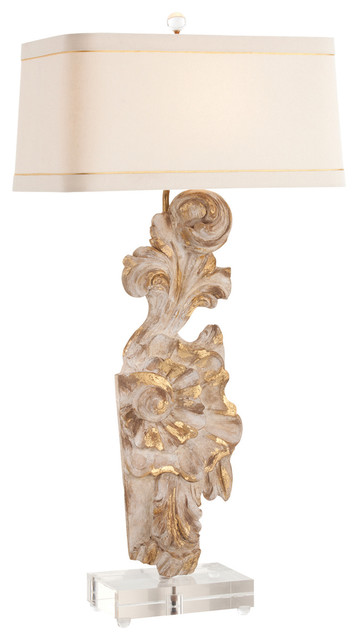 provence painted hand carved solid wood fragment acrylic lamp transitional table lamps. Black Bedroom Furniture Sets. Home Design Ideas
