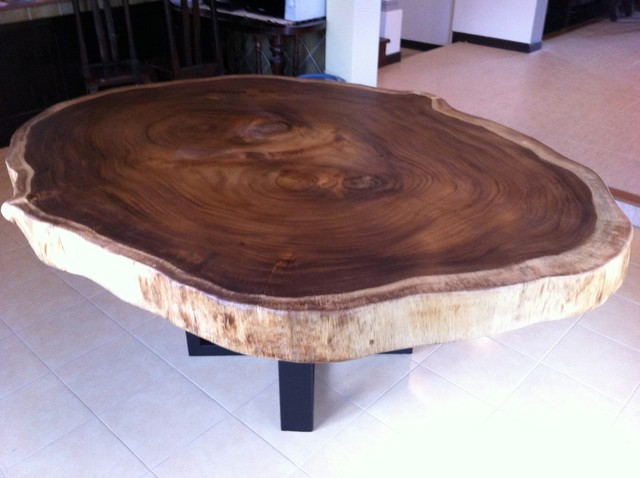 Dining table reclaimed acacia wood large round rare solid for Large round solid wood dining table