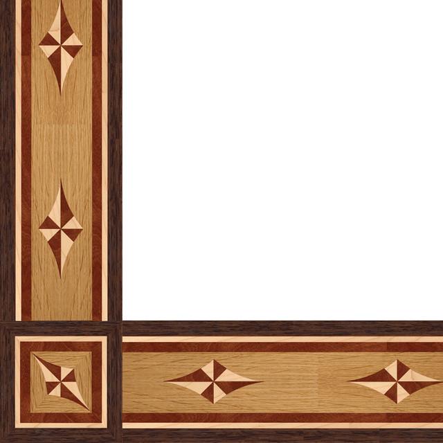 Oshkosh designs rosetta inlay border and corner modern
