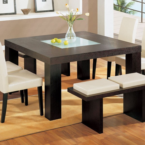 Square Dining Table With Bench