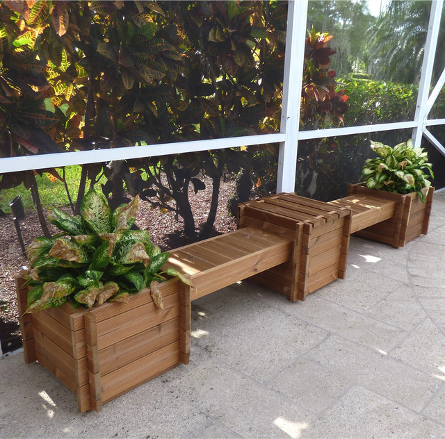 Thermod Contessa Planter Box Bench Contemporary