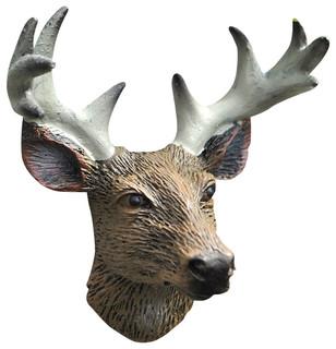 Miniature Fairy Garden Trophy Deer Head - Rustic ...