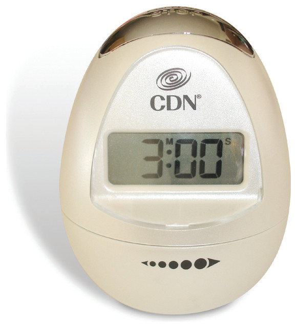 Egg Shaped Timer Pearl White Contemporary Kitchen Timers By Cdn Portland Or