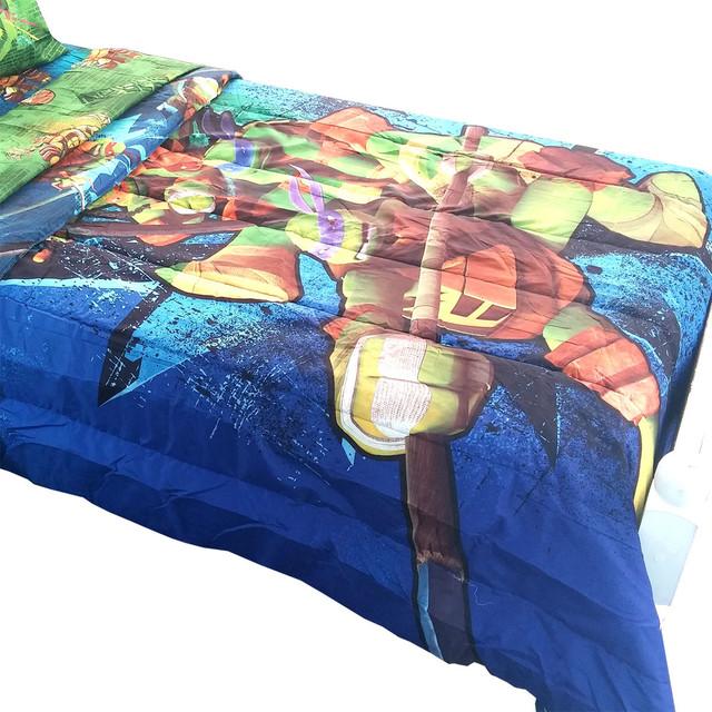 Teenage Mutant Ninja Turtles Twin Full Comforter Shell Up Contemporary Ch