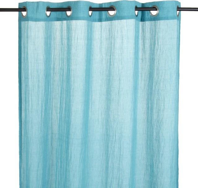 alby voilage illets turquoise contemporain rideaux par alin a mobilier d co. Black Bedroom Furniture Sets. Home Design Ideas