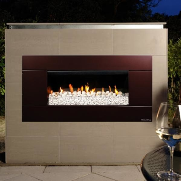 Escea EF5000 Outdoor Natural Gas Fireplace Bronze With