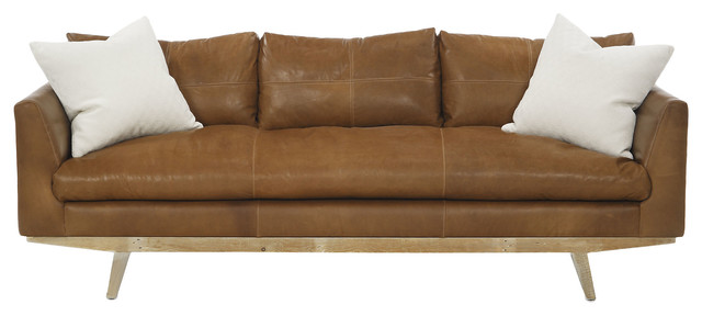 Carmel sofa tobacco leather contempor neo sof s de for Sofas contemporaneos